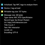 Nfc Interactor ya disponible para WP8