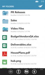 YouSendIt aplicación para Windows Phone 8 exclusiva Nokia