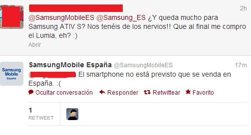 El Samsung Ativ S no se venderá en España [Actualizado X2]