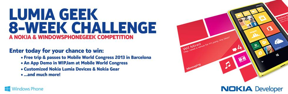 Gana un viaje para dos al MWC 2013 con Lumia Geek 8-Week Challenge
