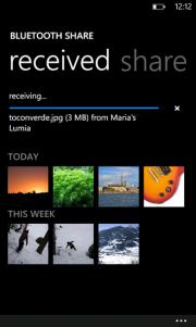 Compartir por Bluetooth de Nokia ya disponible