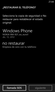 Copia Seguridad WP8