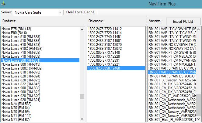 navifirm windows phone 7.8