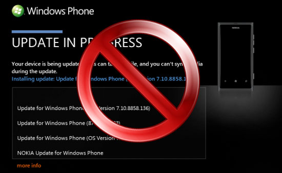 Nokia Lumia 800 no update 7.8