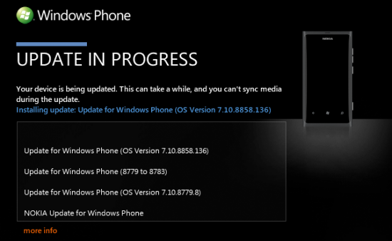 Actualización Windows Phone 7.8 para Nokia Lumia 800