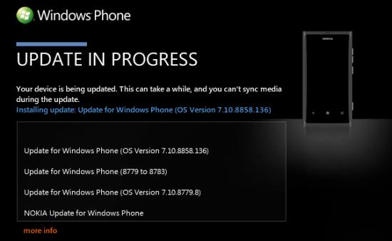 Actualización Windows Phone 7.8 para Nokia Lumia 800