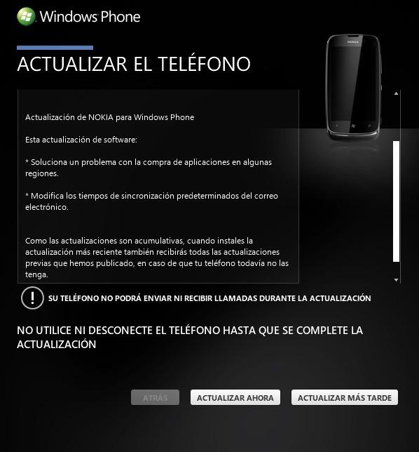 Actualizacion WP 7.8 para Nokia Lumia 610