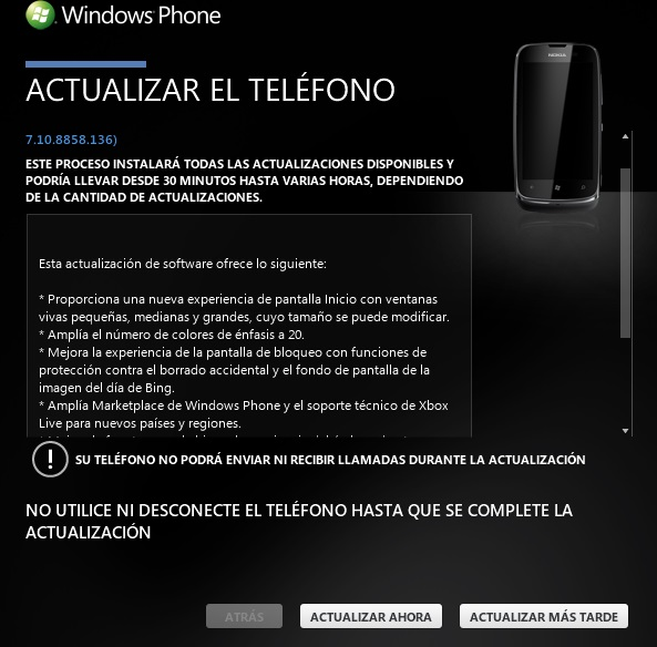 Nokia Lumia 610 con Windows Phone 7.8