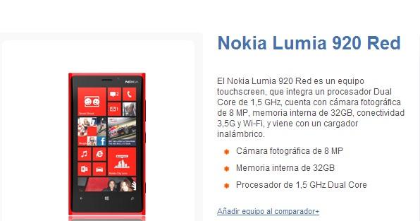 Nokia Lumia 920 con Entel