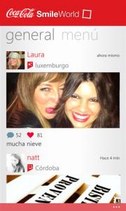 SmileWorld la aplicación de Coca Cola para los momentos divertidos