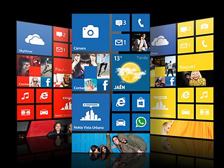 Windows Phone 7.8 pantalla de inicio