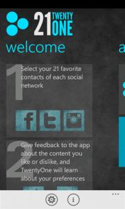 TwentyOne reune en un sitio lo que mas te interesa de Twitter, Facebook e Instagram