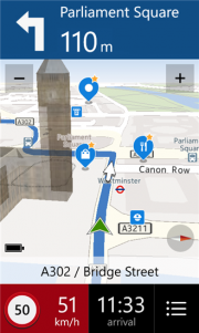 HERE Drive+ Beta, una nueva actualización para Nokia Drive+ WP8