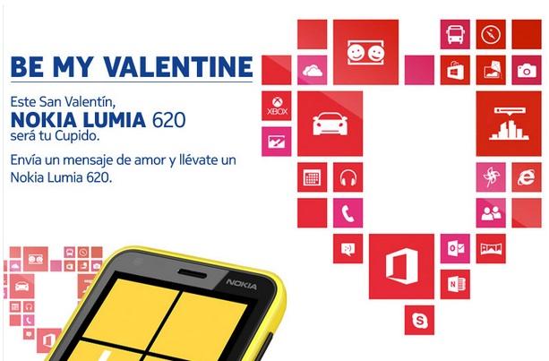 Nokia Lumia 620- San Valentin