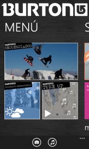 Burton nueva aplicación Nokia para los amantes de la nieve