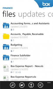 Box actualiza su aplicación para Windows Phone