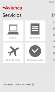 Avianca presenta su aplicación para Windows Phone