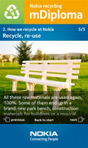 Nokia Recycling Info nueva aplicación Nokia para formar a su personal