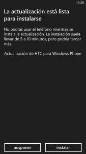 HTC 8X recibe una actualización con firmware 20005