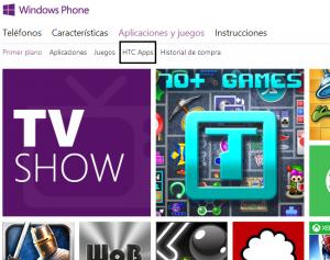 La tienda de Windows Phone ahora nos muestra las apps del fabricante