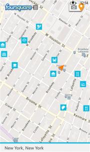 Foursquare lanza su nueva aplicación para Windows Phone