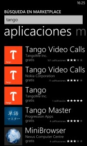 Tango para Windows Phone 7