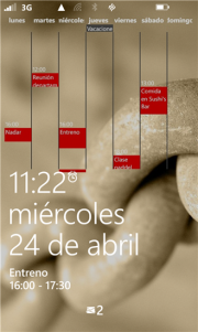 MyWeek: tu calendario en la pantalla de bloqueo