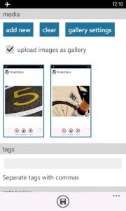 Wordpress para Windows Phone se actualiza con soporte para galería