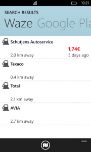 Capturas y mas detalle de Waze para Windows Phone