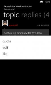 Tapatalk llega a Windows Phone