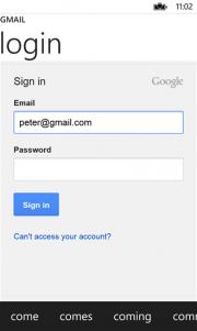 Aplicación no oficial Gmail para Windows Phone