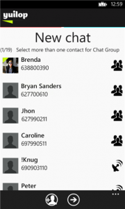 Yuilop para Windows Phone 8 ahora con chat grupal