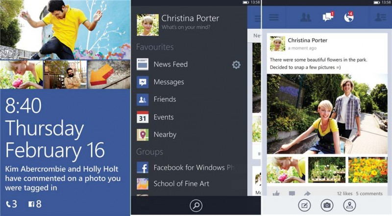 Facebook Beta para Windows Phone 8