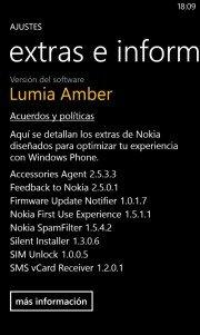 Extras e Información de Nokia