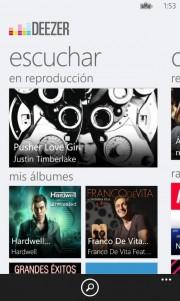 Deezer, toda la música que desees al alcance de tu Windows Phone