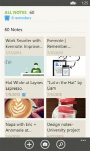 Evernote actualiza su aplicación para Windows Phone 8