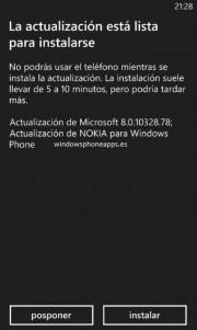 Windows Phone 8.0.10328.78 y actualización de Nokia ya disponibles [Actualizado x2]