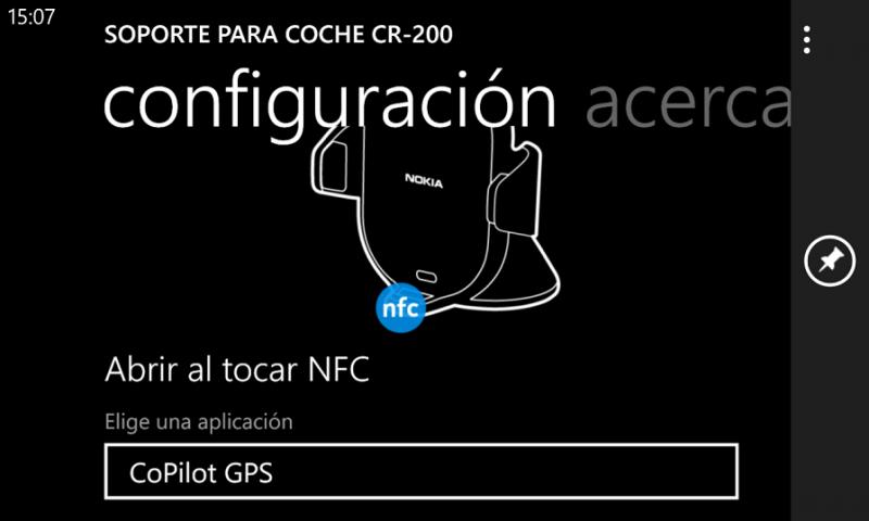 Conexión NFC con soporte CR-200