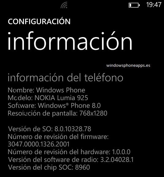 Nokia Lumia 925 Actualizado