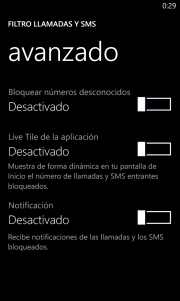 Filtro de llamadas y SMS para los Nokia con GDR2