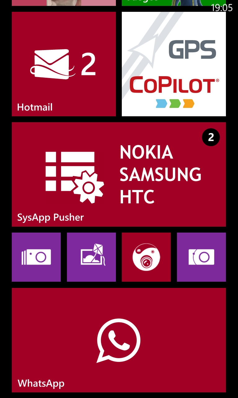 SysApp Pusher se actualiza con Live tile