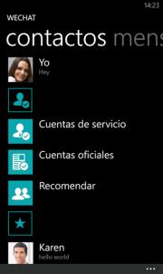 WeChat se actualiza, ahora en Español.