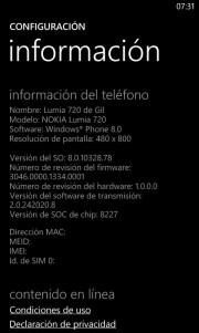 Amber comienza a llegar a los Nokia Lumia 720