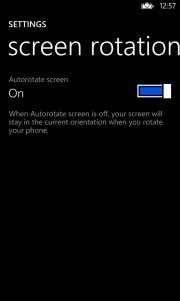 Bloqueo de rotación en Windows Phone 8
