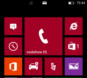 Icono de Modo de Conducción en Windows Phone 8