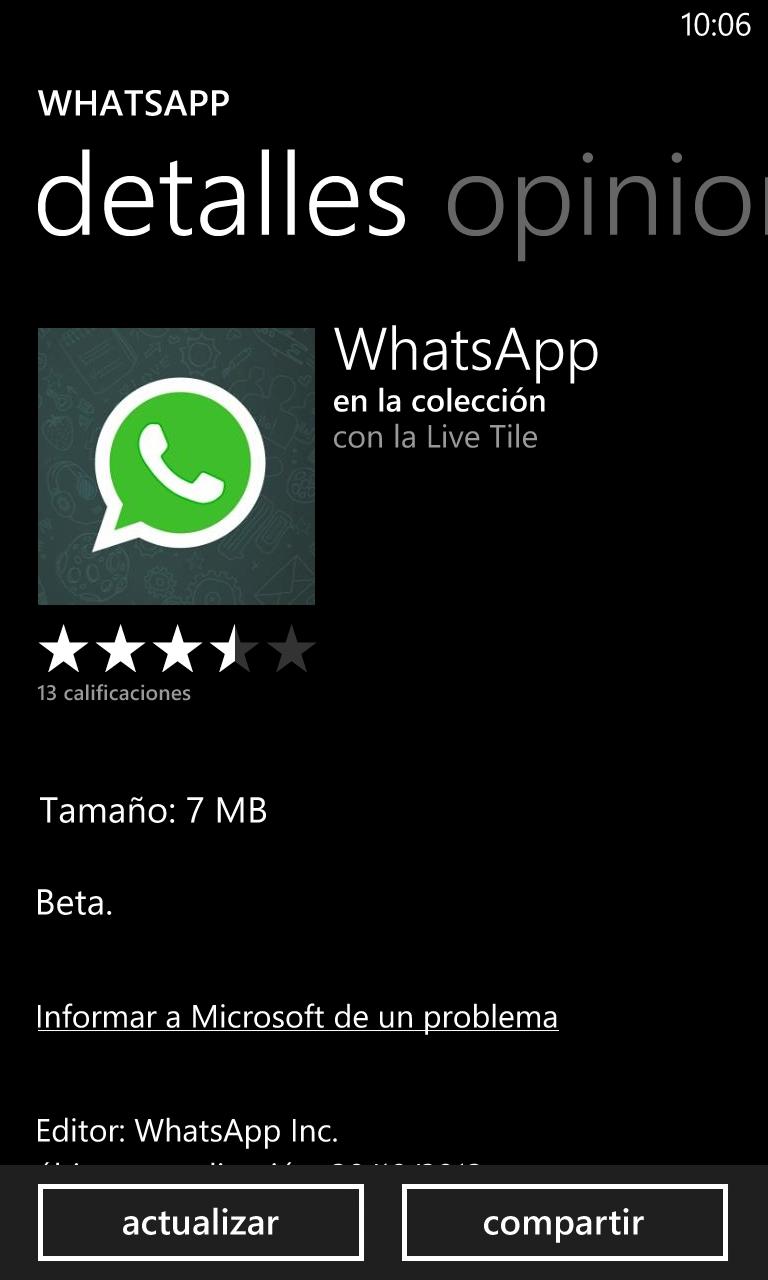 WhatsApp Beta nuevamente se actualiza ahora a la versión 2.11.286