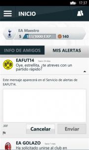 Football Club, la aplicación