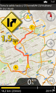 GPS Voice Navigation, gratis para Windows Phone 7 y Windows Phone 8