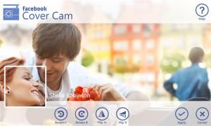 Cover Cam, tu foto de perfil y de portada de Facebook en una captura