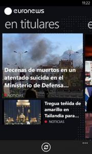 La aplicación del canal Euronews llega a Windows Phone